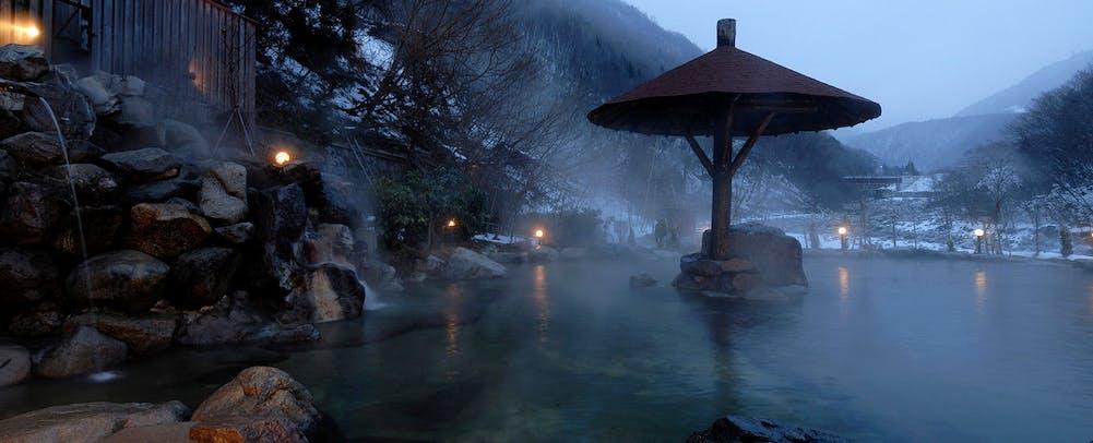 混浴露天風呂 冬