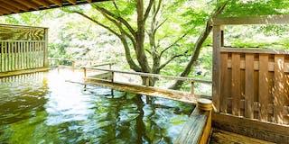 屋根付き「檜の露天風呂」