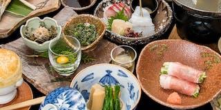 夕食一例/当館の基本コース。中之 条産の旬の野菜や山菜を中心に12品ご用意