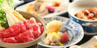 お料理一例/4月~10月は陶板焼き、11月~3月は鍋をご用意致します。