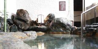 皆生温泉最古の露天岩風呂