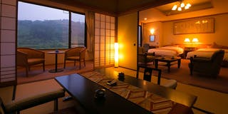 特別室 (和洋室)檜風呂+和12畳+洋室
