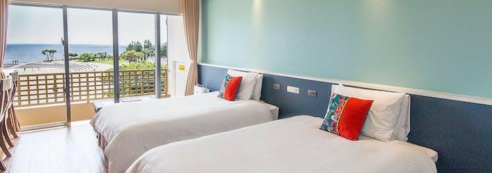 サンセットビーチを一望する絶好のロケーション  リンケンズ ホテル(沖縄県/北谷町)