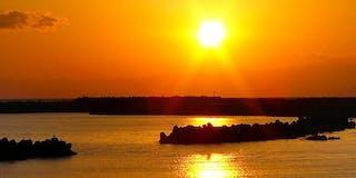 広の浜の夕日