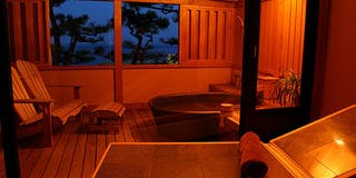 露天風呂つき客室一例