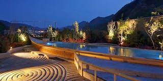 空中庭園露天風呂一例