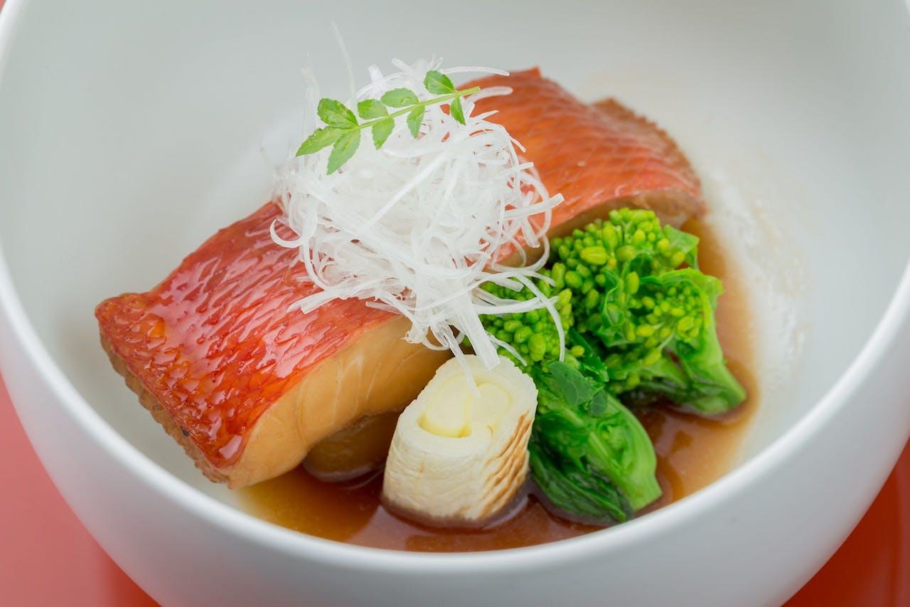 夕食 金目鯛の煮つけ