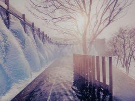 冬の絶景絶景露天風呂「氷瀑の湯」