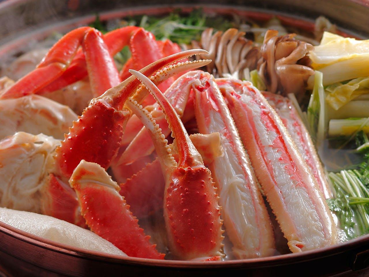 本津合蟹すき鍋会席