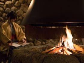 母屋の暖炉