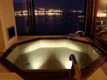 和モダン特別室-琥珀-半露天風呂