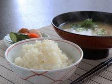 シンプルな朝と魚沼米!