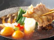 軍鶏の骨で出汁を摂った、軍鶏鍋