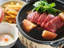 【黒毛和牛の芋けんぴすき焼き