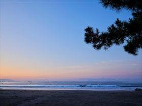今井浜海岸 朝焼け