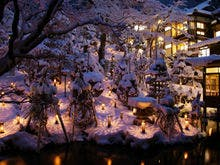 向瀧・冬の風物詩「雪見ろうそく」