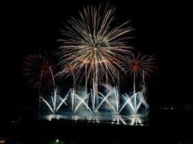 諏訪湖祭湖上花火大会の様子