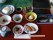 朝の和定食です。