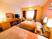 25.2平米のお部屋に110センチのベッドが2台