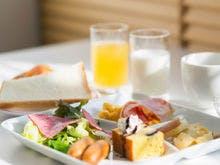 和洋ブッフェの朝食 洋食盛り付け例