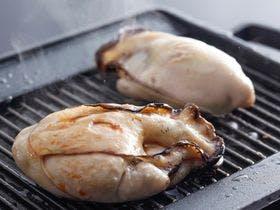 牡蠣の陶板焼きイメージ。