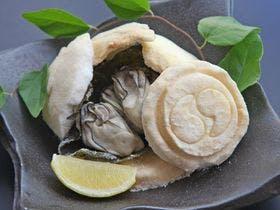 オプション料理『牡蠣の塩釜焼き』