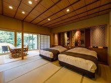 ひのき露天風呂付古代紫12.5畳+和ベッド