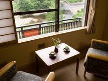 通常客室から小国川眺望