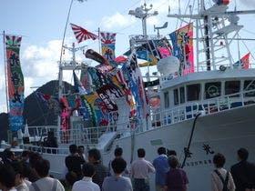 松葉蟹漁で有名な柴山港