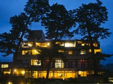 萩城へ一人旅。風呂から絶景が眺められる温泉宿は?