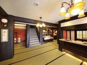 ■【ロビー】館内廊下は全て畳敷きです。