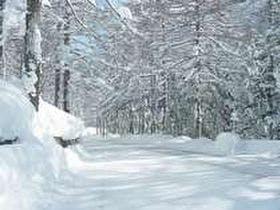 雪の万座ハイウェイ