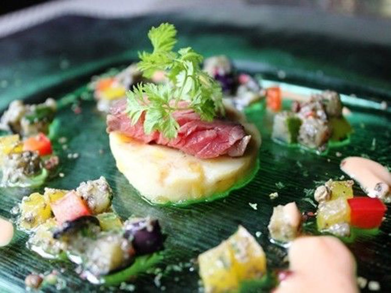 【米沢牛カイノミと夏野菜のマリネ】