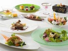フレンチ懐石のご夕食の一例です