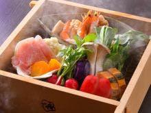 冬料理:【蒸篭蒸し】 季節のお野菜
