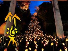 たけた 竹灯籠開催