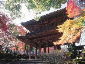功山寺の紅葉の様子です。