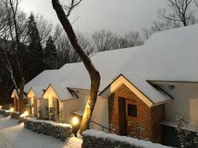 テラスハウス雪化粧
