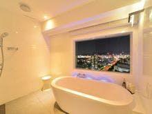 バスルームからも夜景をご覧いただけます