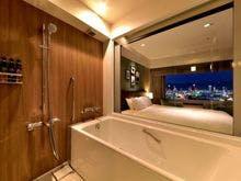 プレミアフロア バスルーム夜景(一例)