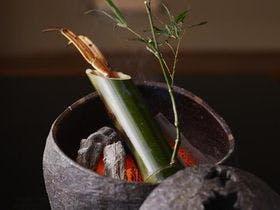 干しかに竹酒