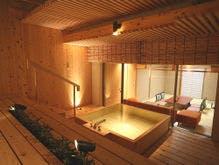 庭園露天風呂付客室【月の舟】