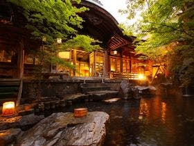 湯田中温泉で外湯巡り!宿泊は露天風呂がある温泉宿にしたい。おすすめを教えて下さい。