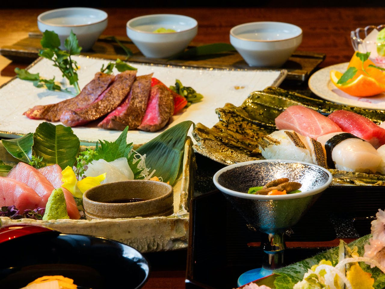 """kamajin""""kitchen&bar""""全6品の懐石料理"""
