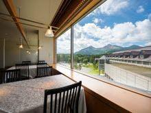 和食レストラン「和楽」から望む磐梯山