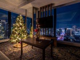 お部屋にクリスマスツリー