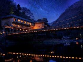 湯原温泉に一人旅、会席料理で露天風呂付き客室があるお宿