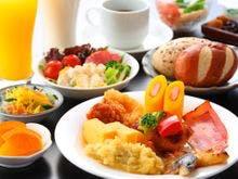 朝食バイキング無料サービス!