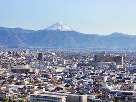 *富士山南アルプス鑑賞ラウンジからの眺め