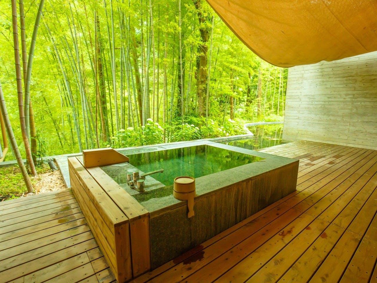 客室露天風呂の一例(106号室)